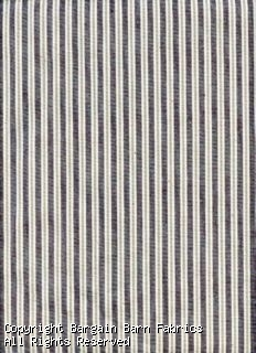 Cotton Duck in Pin Stripe Taupe, Ivory, Chocolate Brown