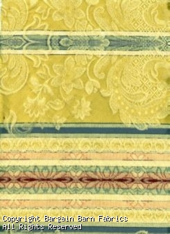 From Italy--Heavy Jacquard Stripe In Gold, Rose, Ivory, Aqua and