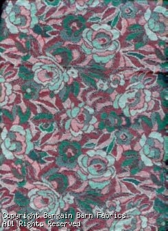 Tapestry with Roses in Deep Burgandy and Rich Forest Green