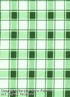 OUTDOOR - Canvas in Green and White Plaid