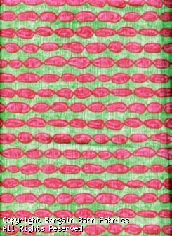 Braemore Fabrics presents Pink Bubbles on Lime Background