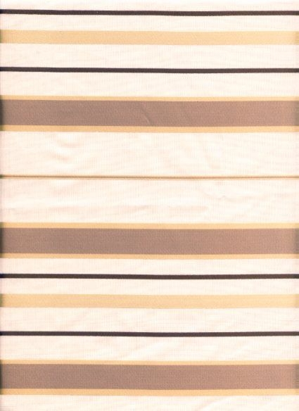Faux Silk Striped Taffeta in Ivory and Gold