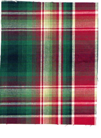 Large Even Woven Plaid in Greens, Ruby, Ivory and Black