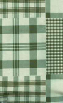 Matelasse Green and White Plaids