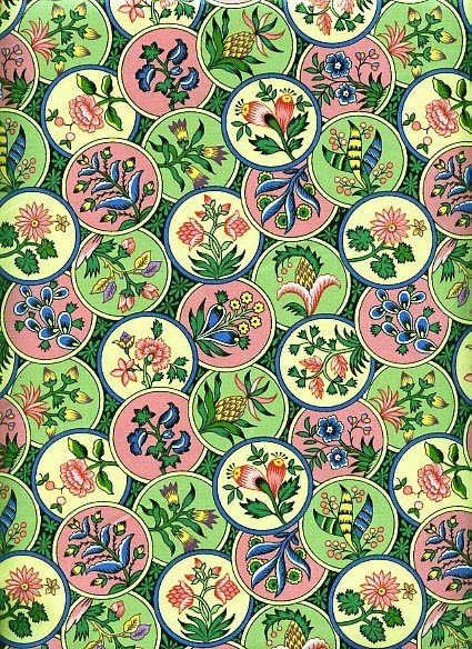 Floral in Circle Medailions by Westgate Fabrics