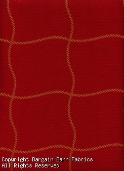 Modern Red and Gold Large Wiggle Check
