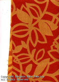 Rust and Gold Floral Tapestry