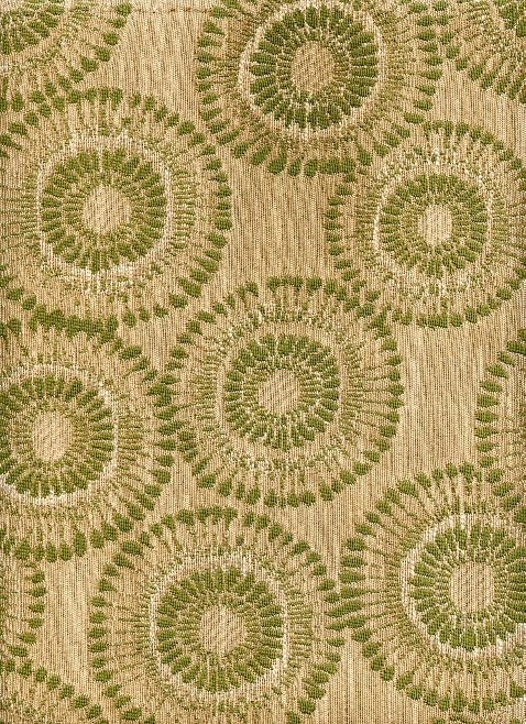 Sage Green 70's Flowers on a Cream Bacground