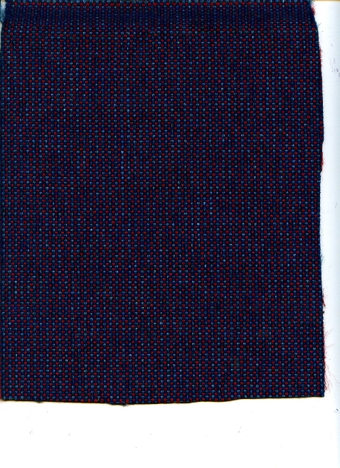 Woven Navy, Burgandy, and Light Blue Mini Dot