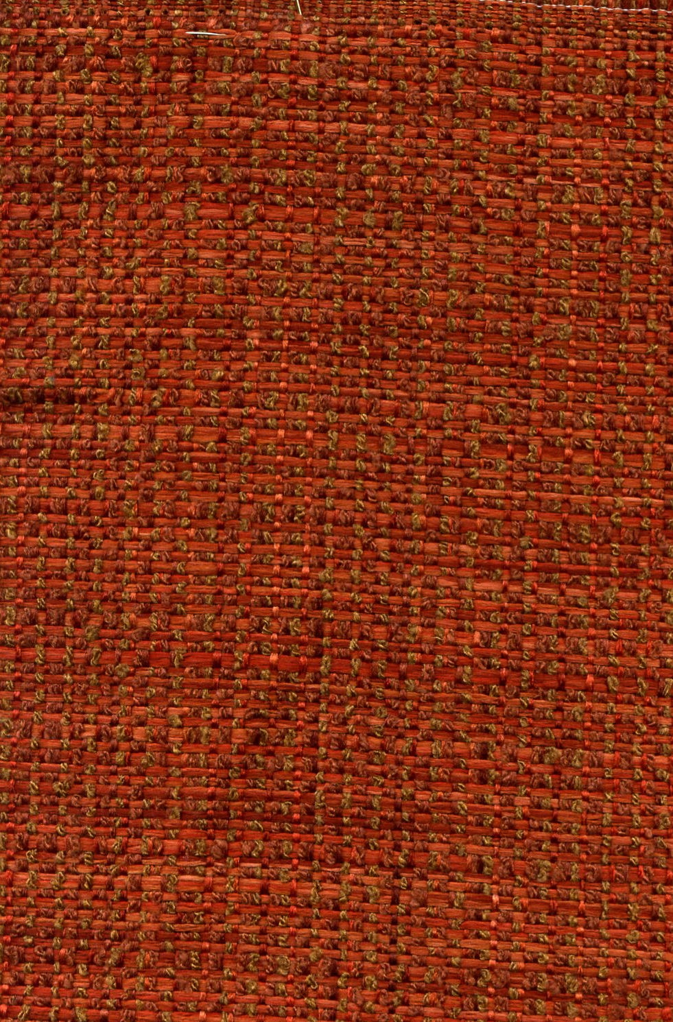 Varigated Rust and Cocoa Basket Woven Upholstery Fabric