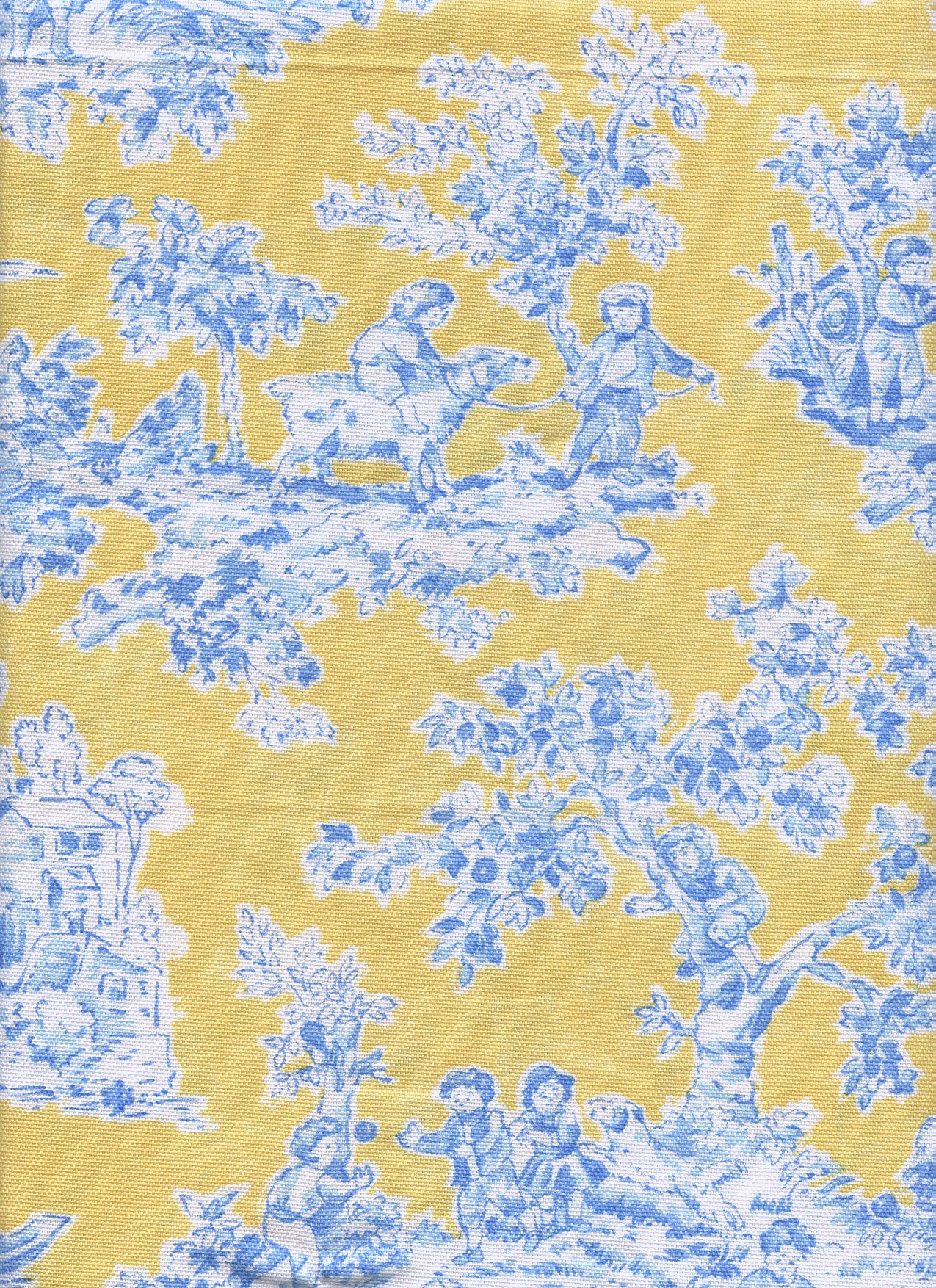 "Braemore ""Just us Kids"" Yellow and Blue Toille"