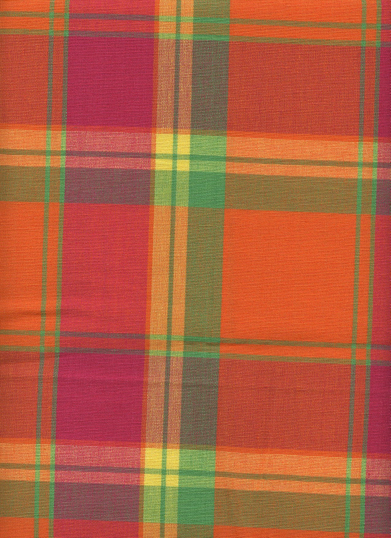 Port Royal Tangerine Plaid