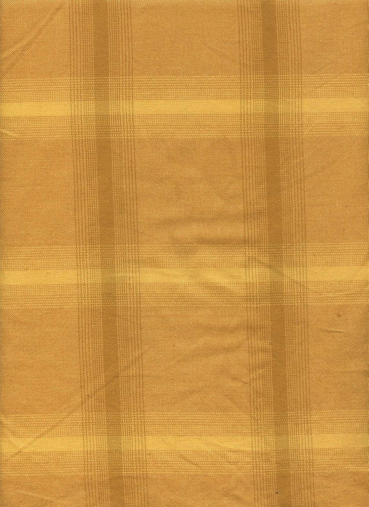 Golden Yellow Tone on Tone Plaid Linen