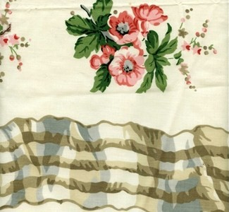 Polished Cotton Floral Drapery