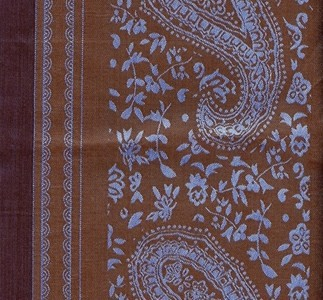 Blue and Brown with paisley