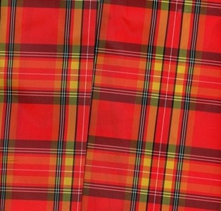 Red Plaid Taffeta