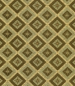 Green and Gold Diamond Pattern with Starbursts