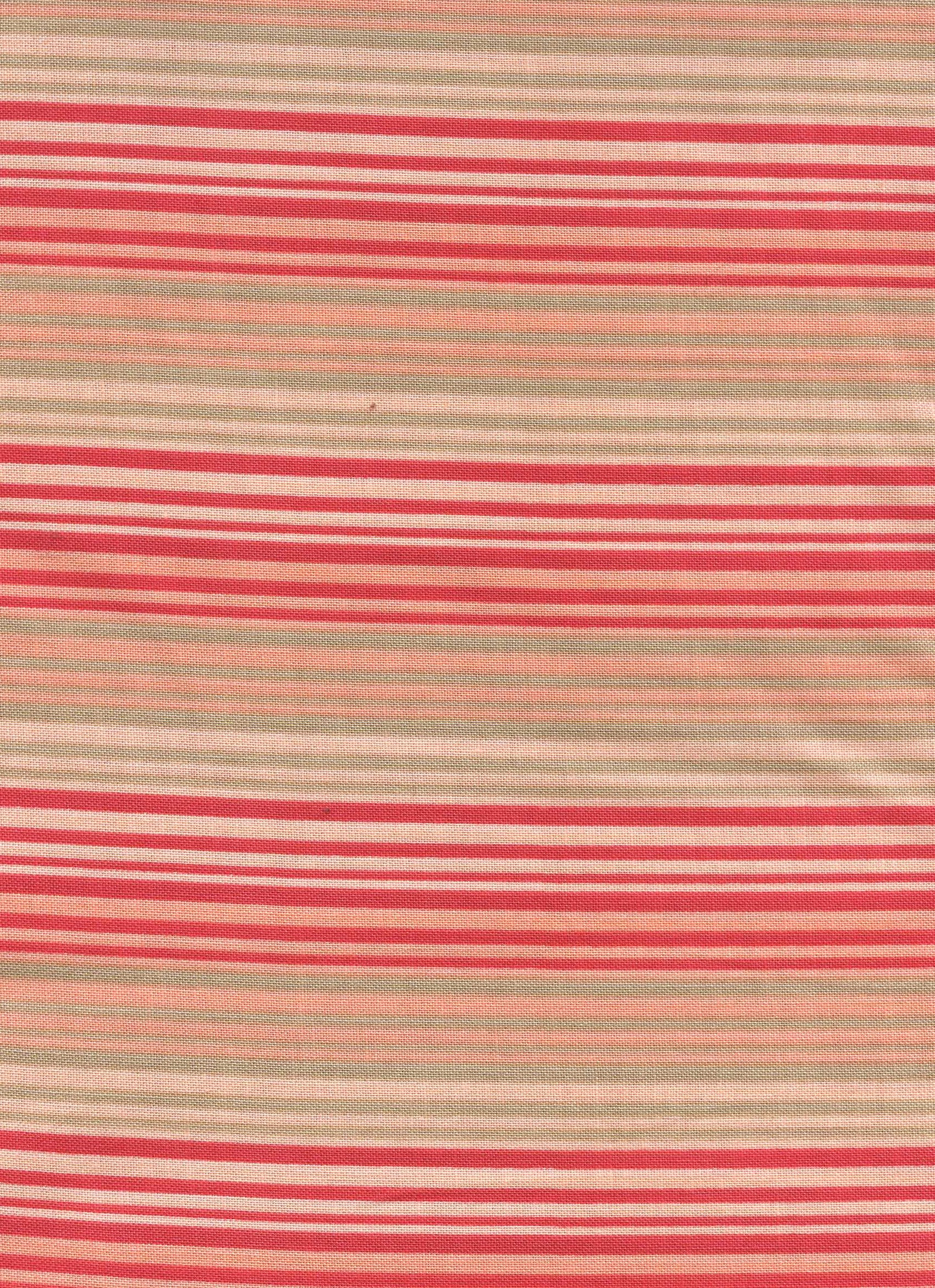 Coral and Orange Stripe