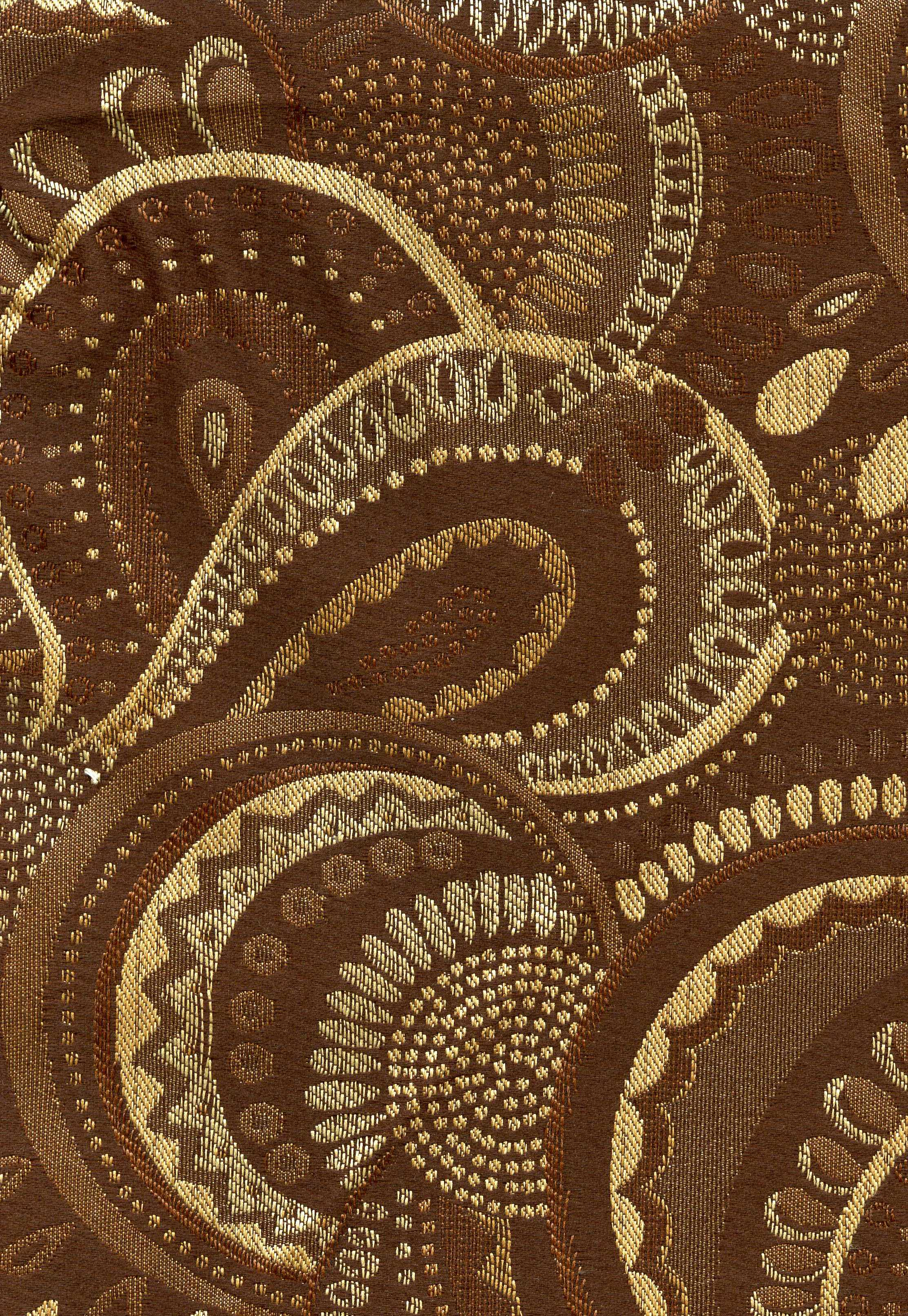 Chocolate Modern Paisley