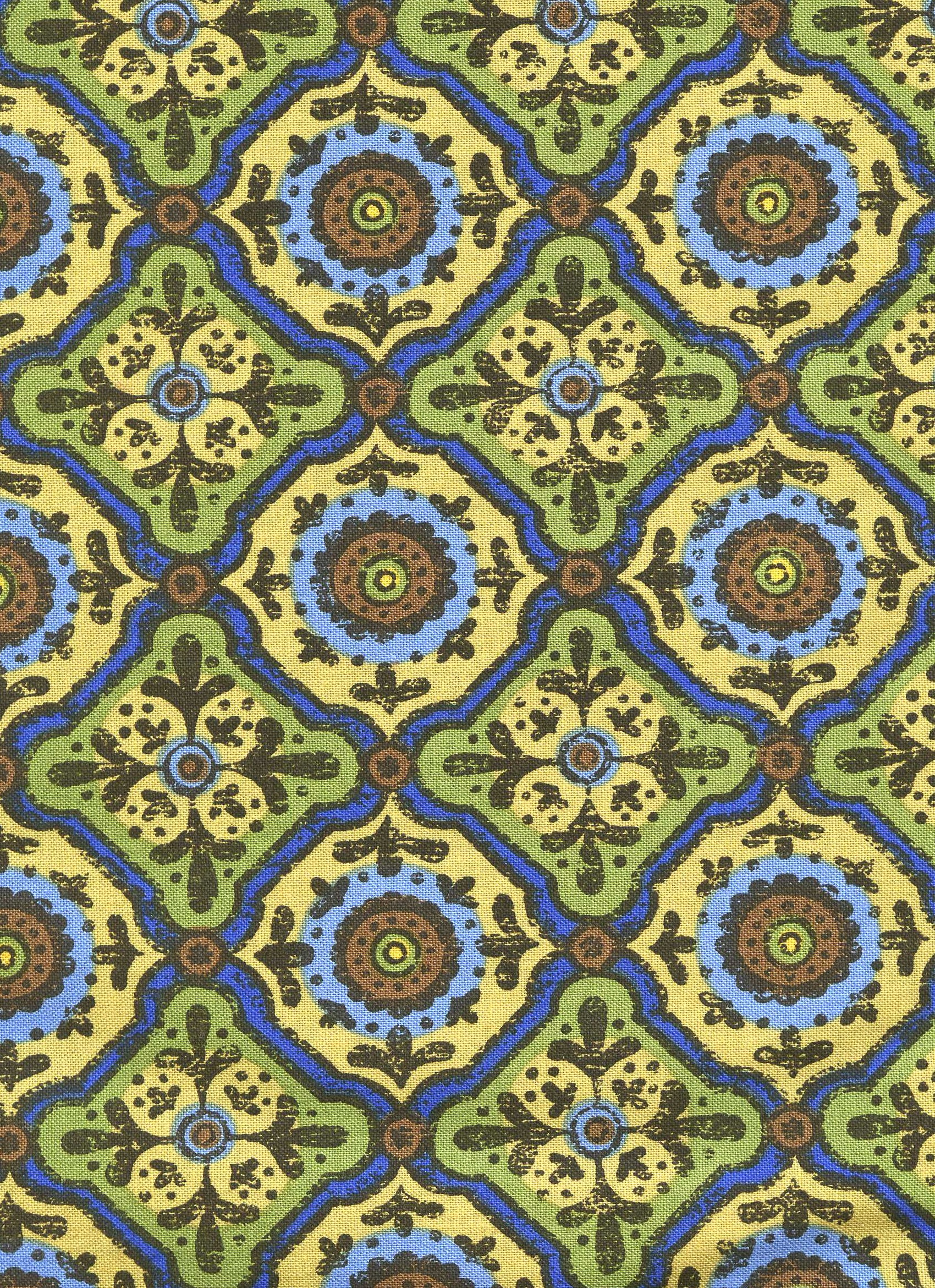 Yellow, Blue and Green Medallion