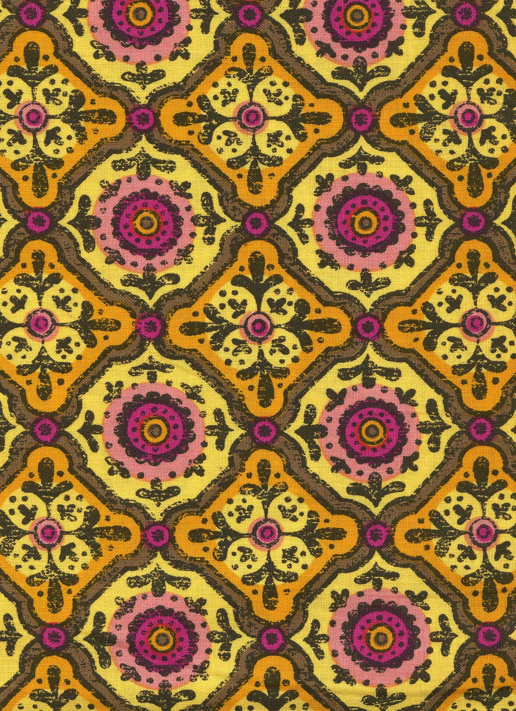 Gypsy Garden-Yellow Medallion Print