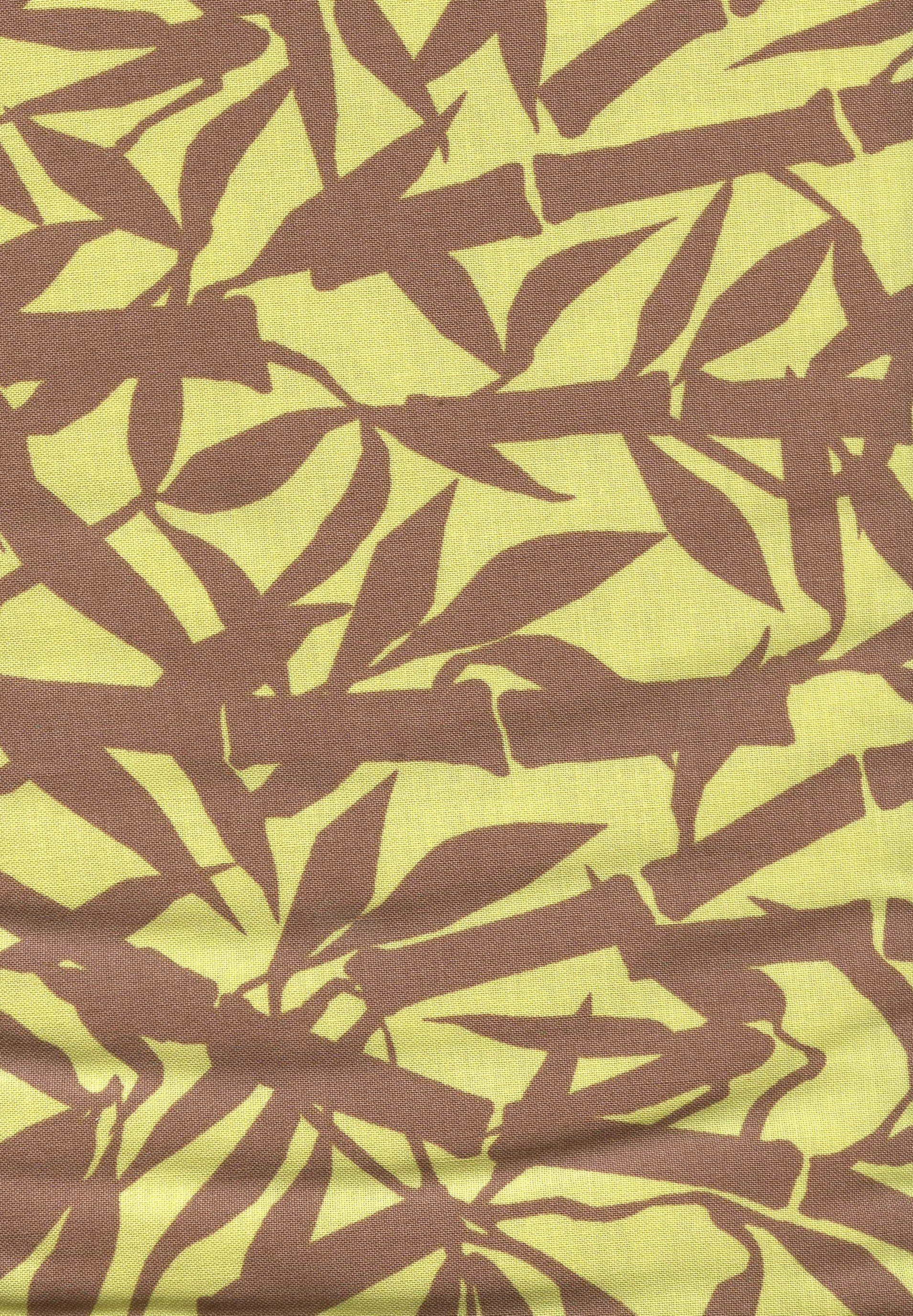 """Spa"" by Rosemarie Lavin Green and Brown Bamboo Print"