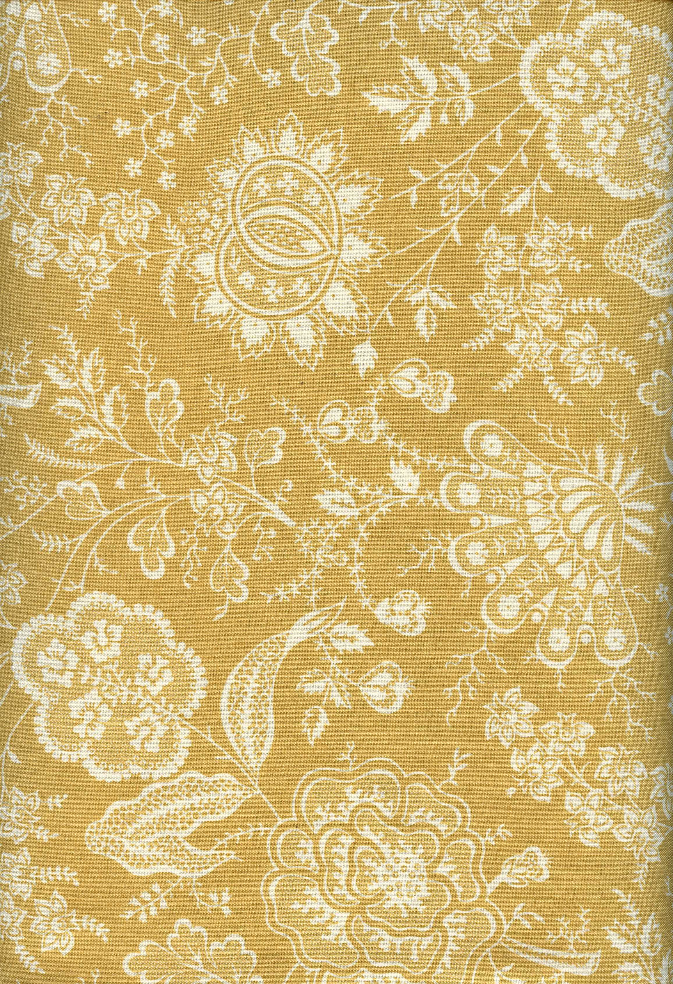 Katherine- Dark Gold with White Design
