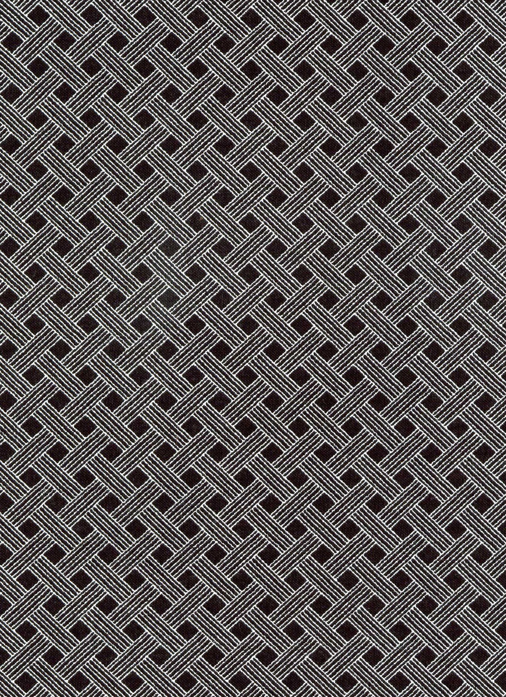 Black with White Basket Weave Pattern