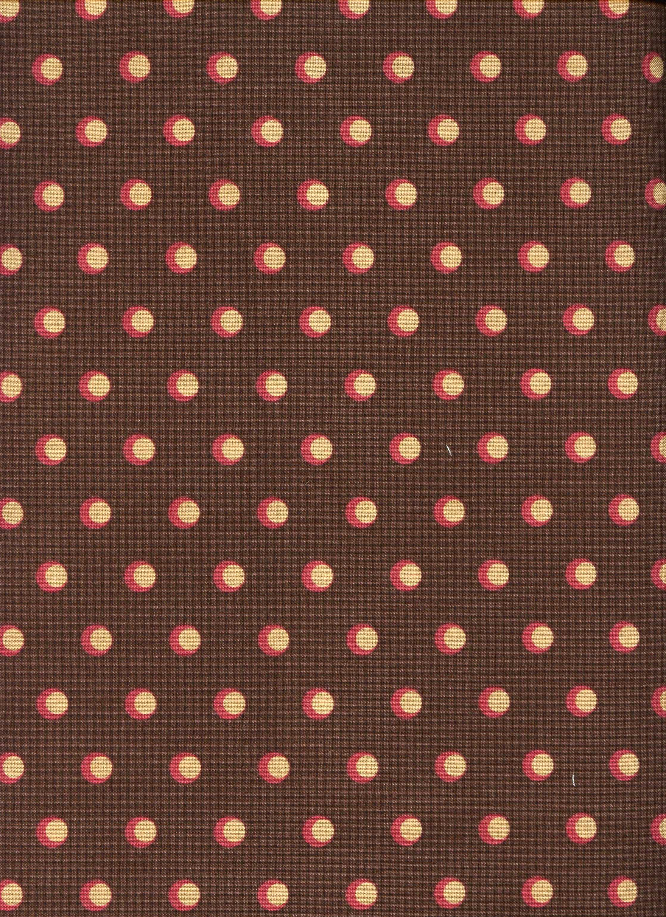 Addison- Brown with Peach and Pink Dot