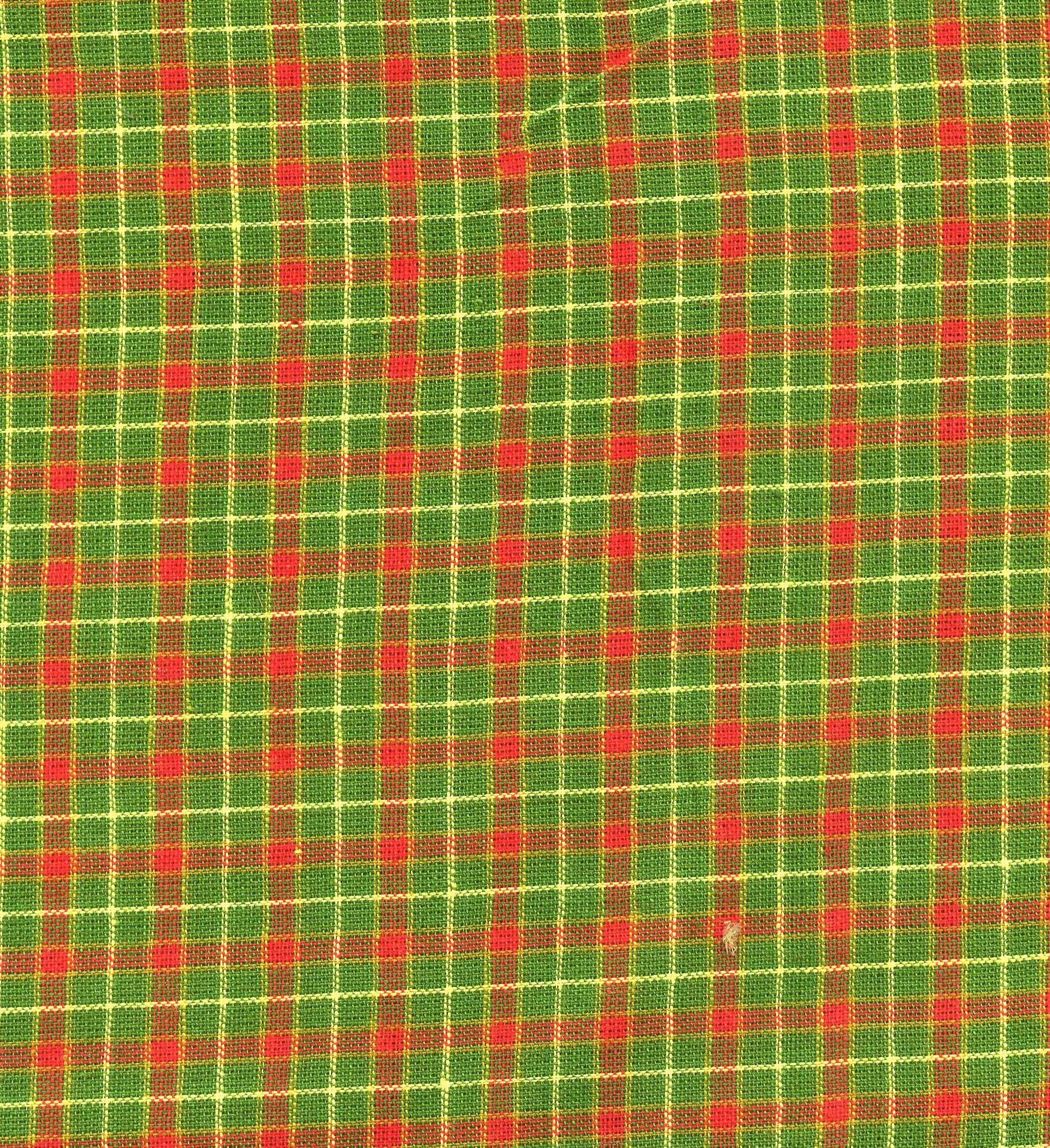 Green, Red and Yellow Plaid