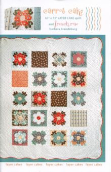 Carrot Cake & French Rose Quilt Pattern by Barbara Brandeburg