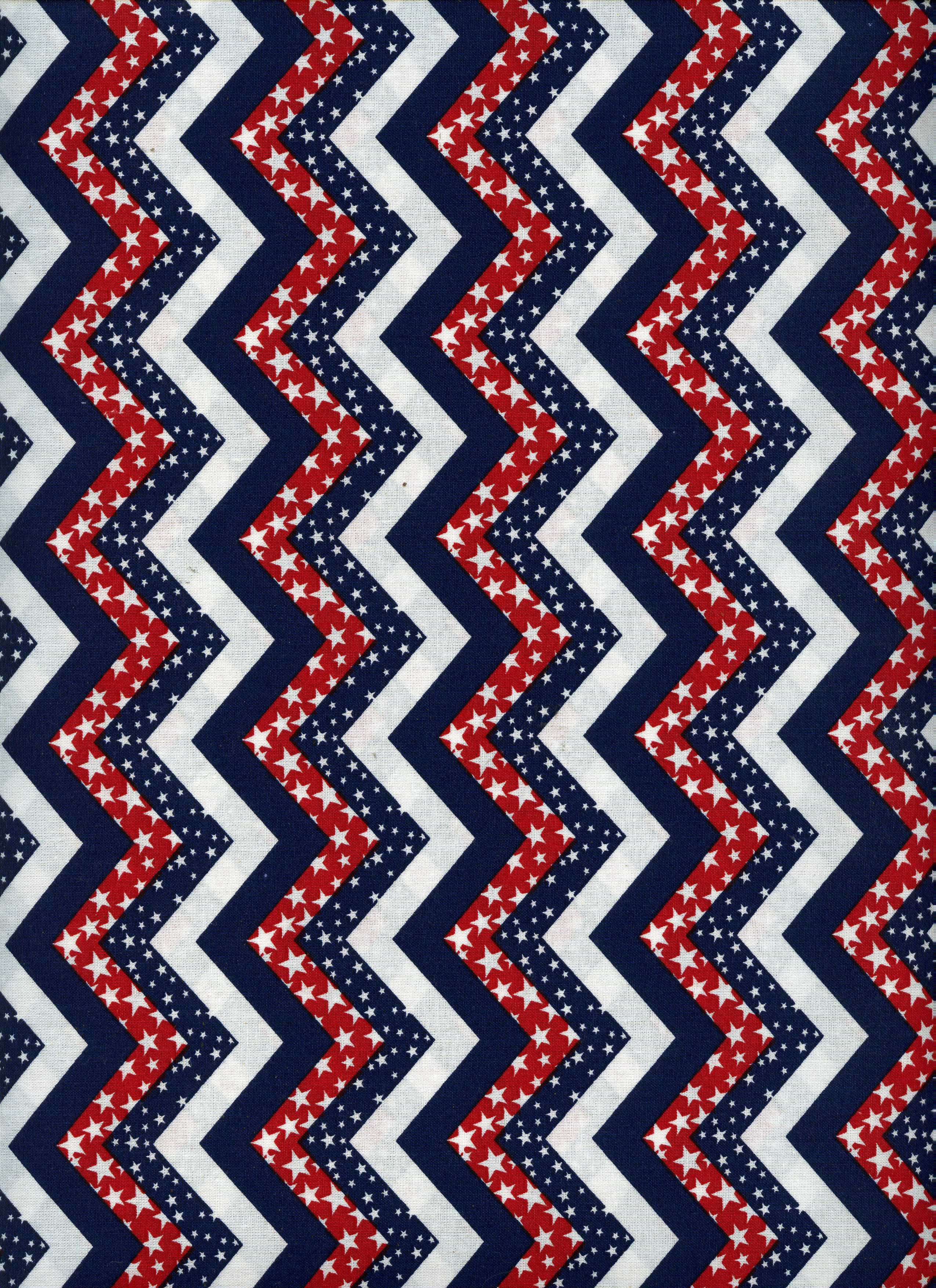 Red white and blue print