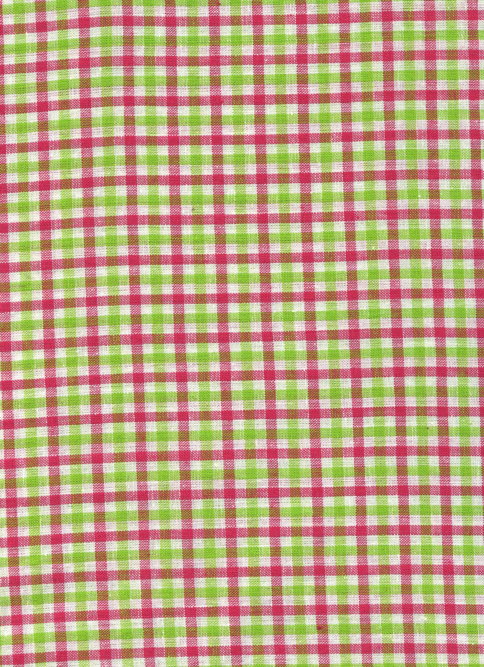 White/Green/Pink Plaid
