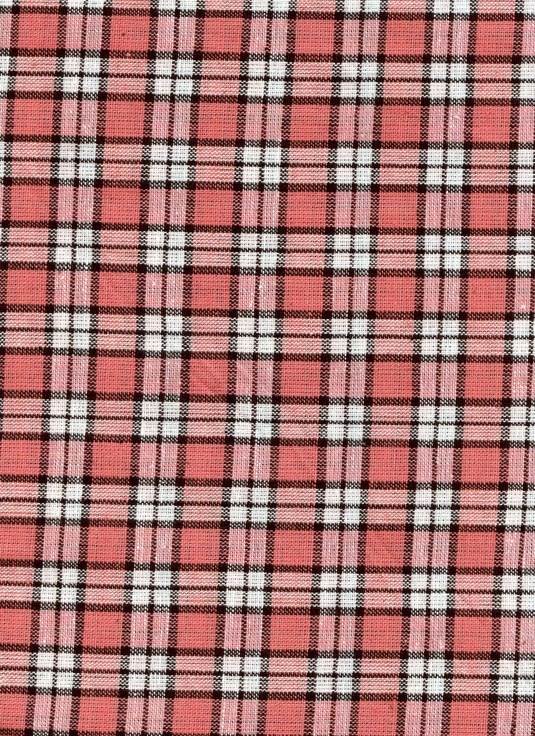 Rose and White Plaid