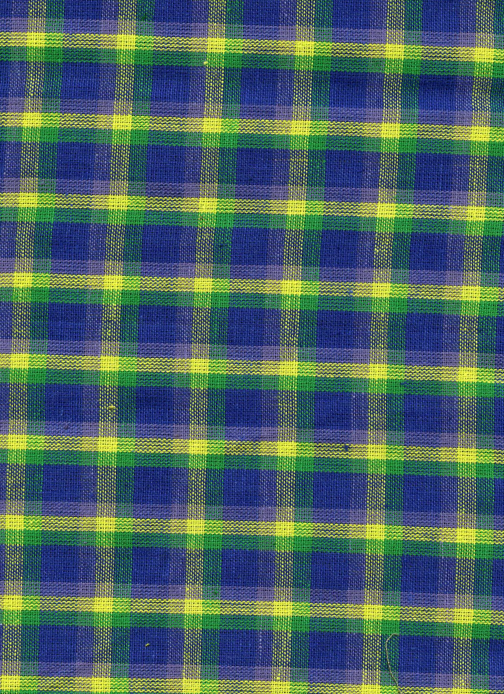 Blue/Green/Yellow Plaid