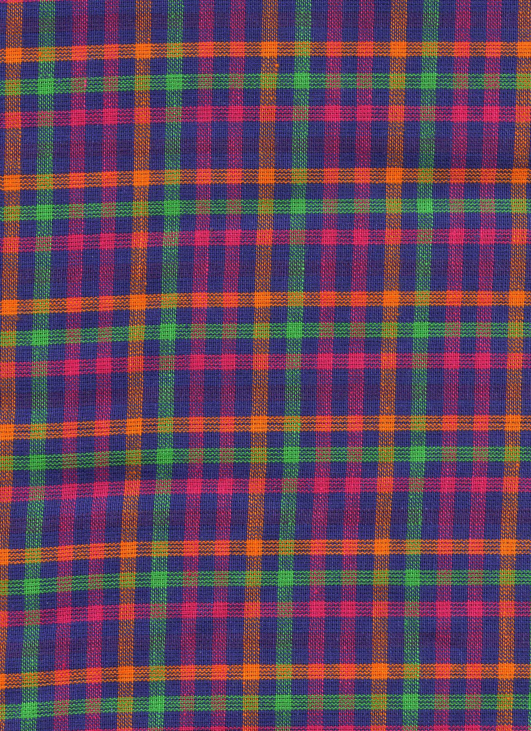 Pink, Orange and Green Plaid