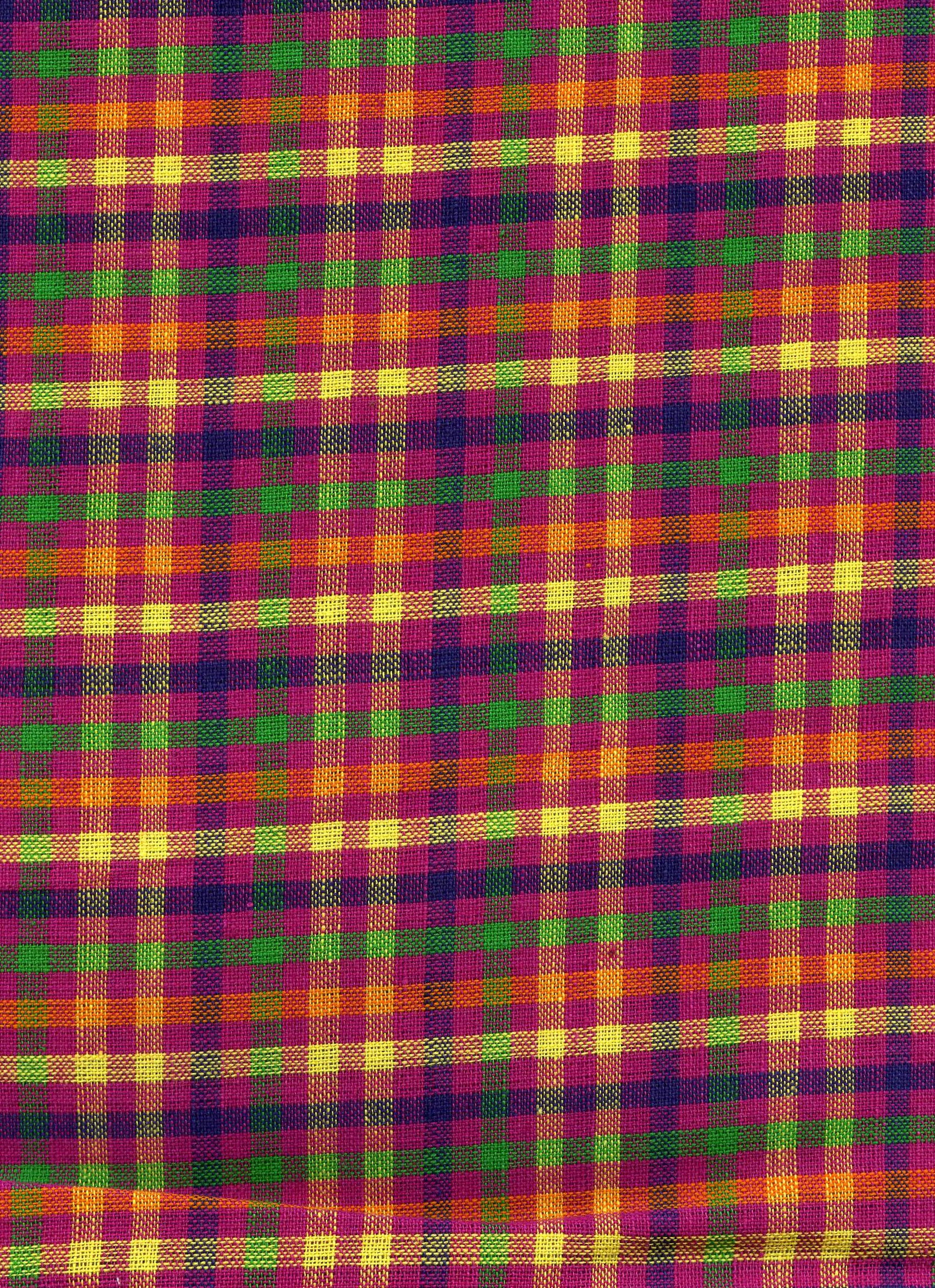 Purple, Green and Orange Plaid