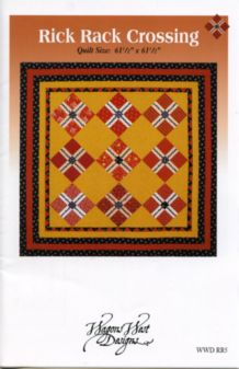 Rick Rack Crossing Quilt Pattern by Wagons West Designs